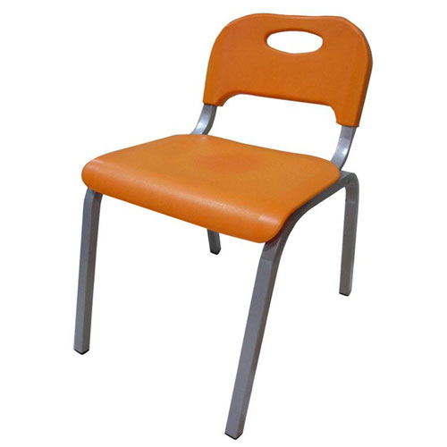 Chair with plastic seat and back