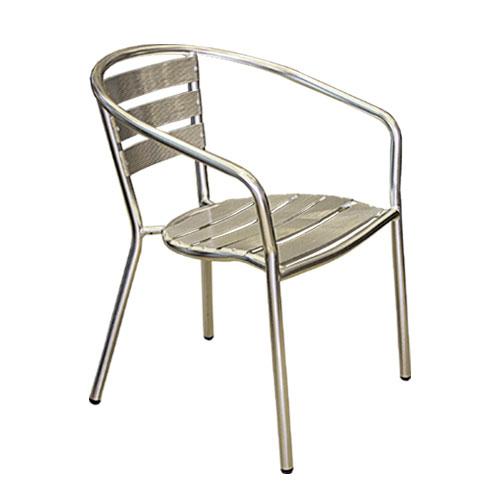Aluminium outdoor restaurant chairs