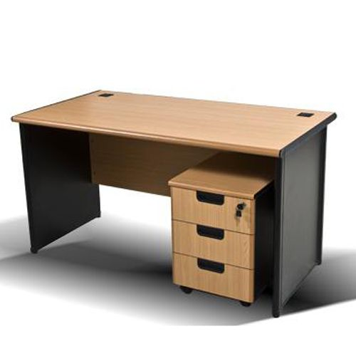 Desk With Mobile Pedestal