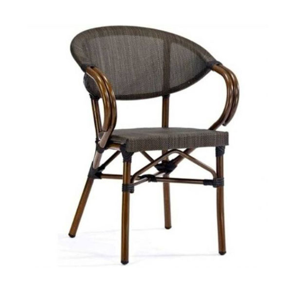 Aluminium textaline bamboo finish outdoor restaurant chair