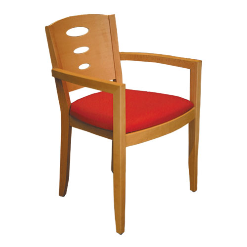 wooden restaurant armchair
