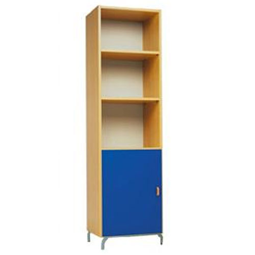 High Two Shelf Storage Unit with Cupboard