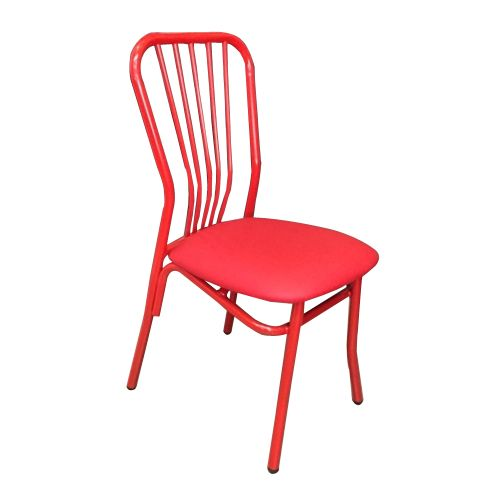 Kristy Steel Chair  Red
