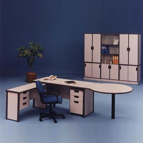 L-Shape Desk With Conference