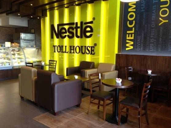 Nestle Toll house coffee shop furniture supplied by Najmi Furniture