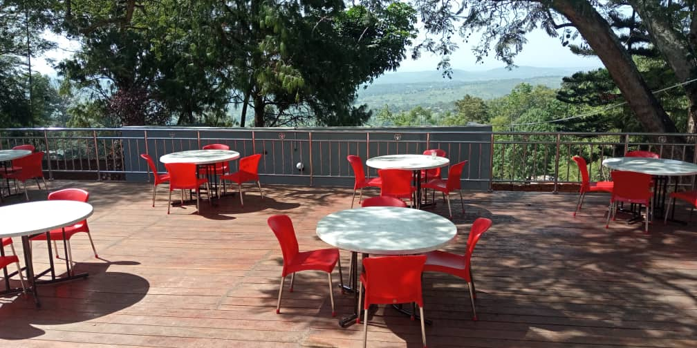Isotop outdoor Table tops and polypropylene chairs supplied from UAE