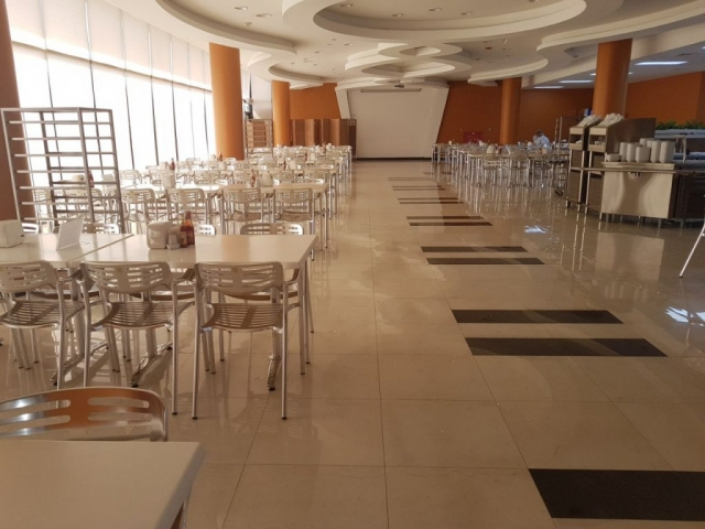 aluminium staff canteen chairs supplied to Saudi Arabia