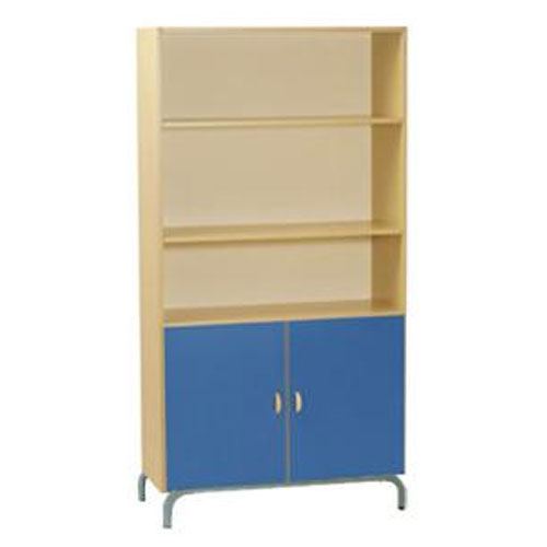 Two Shelf Storage Unit with Cupboard