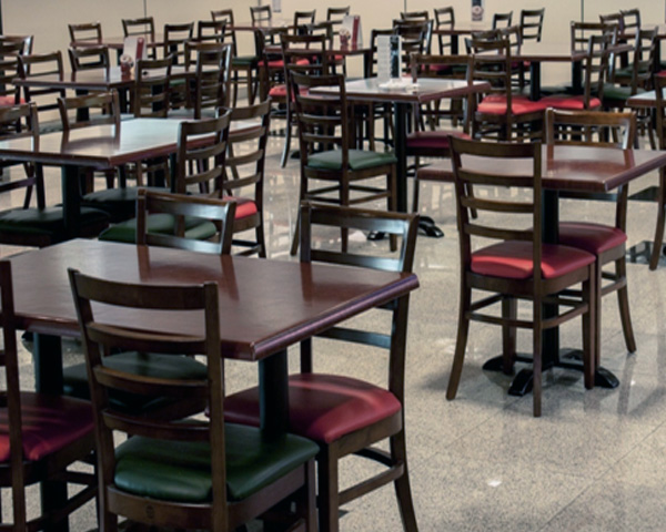 Wooden chairs supplied in Staff pantry