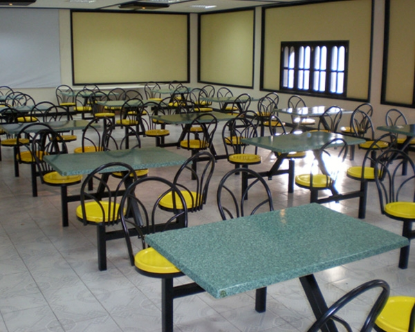 fastfood tables supplied in staff pantry