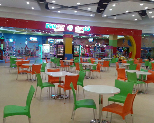 Food court furniture supplied in Oman