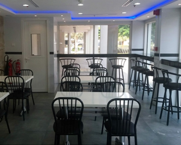 steel canteen chairs in UAE