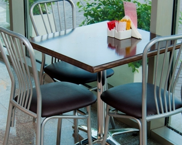 Steel contract chairs for cafes and Bakeries