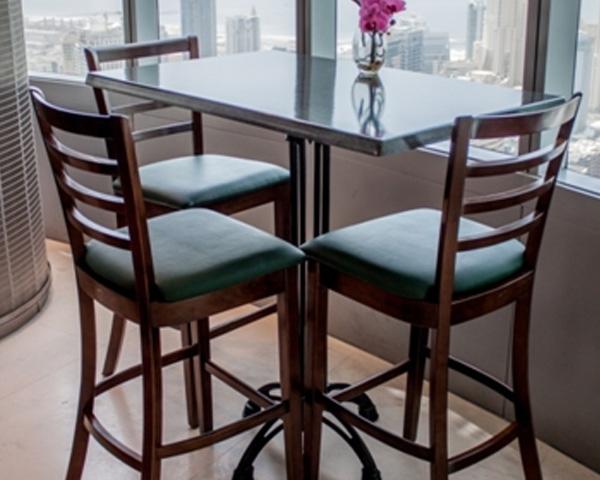coffee shop furniture supplied in Almas tower JLT UAE