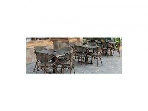 Ella outdoor chair with German Pizzara table - Najmi furniture