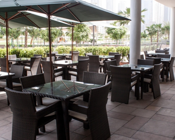 rattan outdoor  restaurant tables and Chairs in JLT
