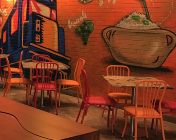 Strong Metal restaurant chairs in UAE - Najmi Furniture