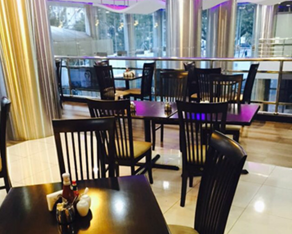 Contract wooden high back  restaurant chairs in UAE