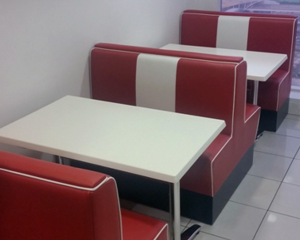 single booth and double Banquette seating
