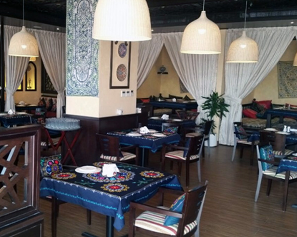 contract wooden restaurant Arm chairs in Dubai