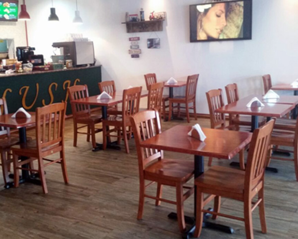 Strong wooden restaurant chairs in UAE
