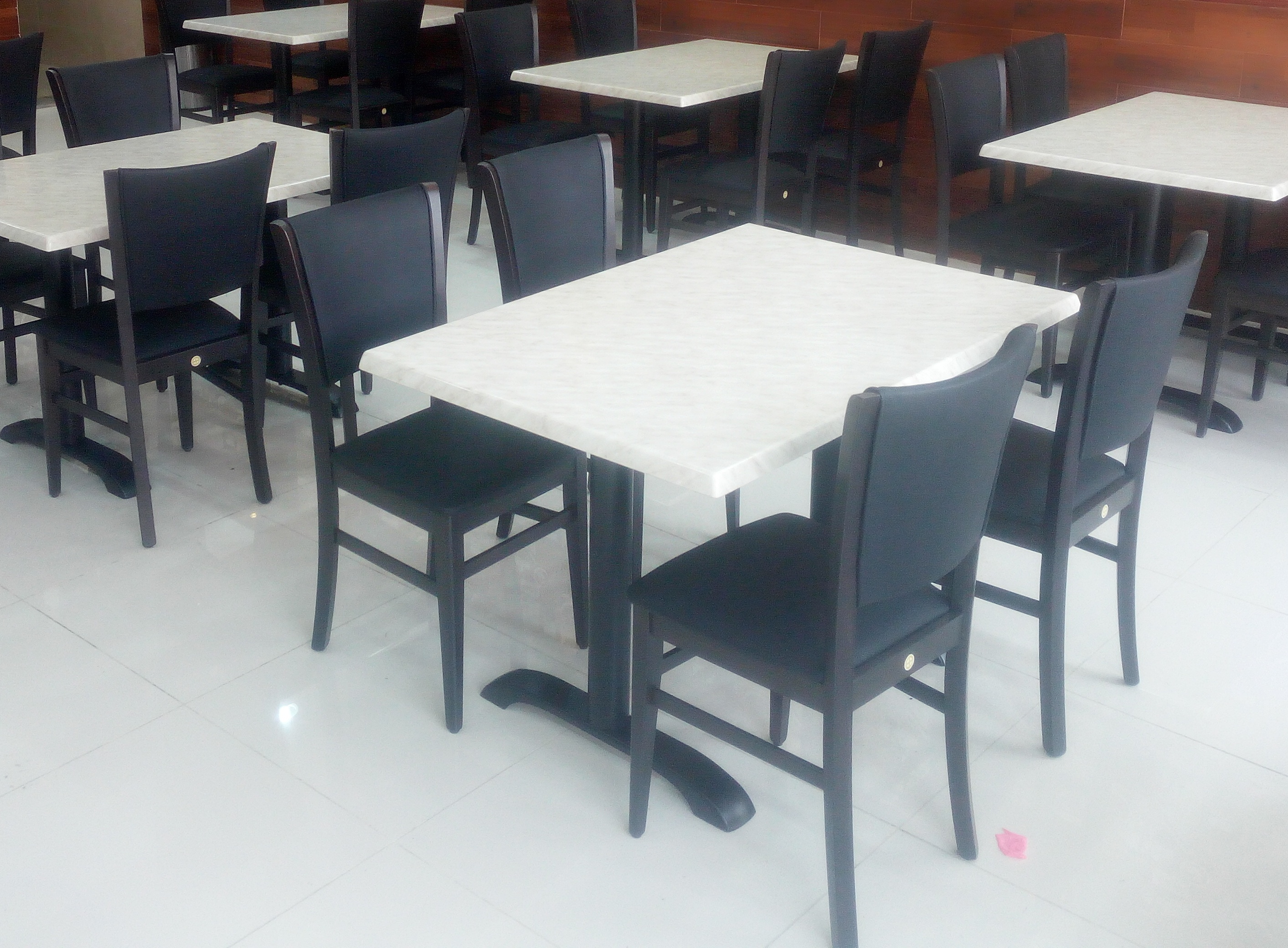 black and white restaurant furniture in UAE