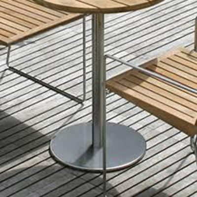 Stainless steel table bases & Chrome table bases